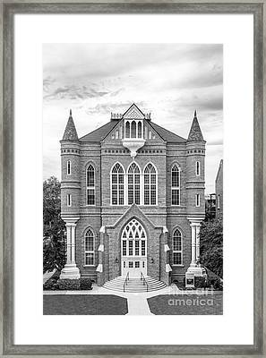 University Of Alabama Clark Hall Framed Print by University Icons
