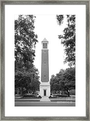 University Of Alabama Denny Chimes Framed Print by University Icons