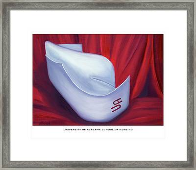Framed Print featuring the painting University Of Alabama School Of Nursing by Marlyn Boyd