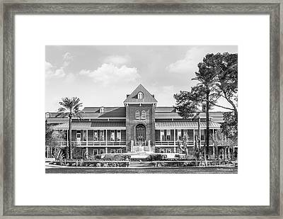 University Of Arizona Old Main With Fountain Framed Print