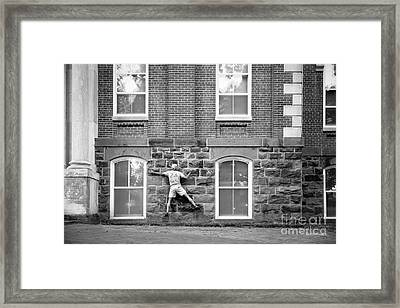 University Of Arkansas Climbing Old Main Framed Print