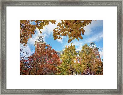 University Of Arkansas Razorback Campus During Autumn Framed Print