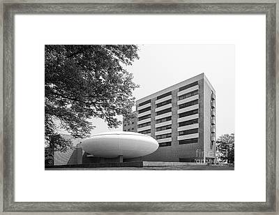 University Of Bridgeport Bernhard Arts And Humanities Framed Print by University Icons