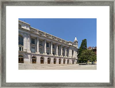 University Of California Berkeley Historic Ide Wheeler Hall South Hall And The Campanile Dsc4064 Framed Print by Wingsdomain Art and Photography