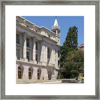 University Of California Berkeley Historic Ide Wheeler Hall South Hall And The Campanile Dsc4066 Sq Framed Print by Wingsdomain Art and Photography