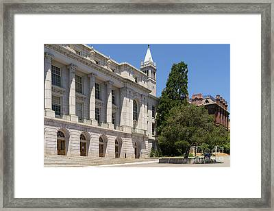 University Of California Berkeley Historic Ide Wheeler Hall South Hall And The Campanile Dsc4066 Framed Print by Wingsdomain Art and Photography