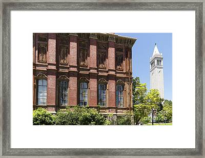 University Of California Berkeley Historic South Hall And The Campanile Dsc4054 Framed Print