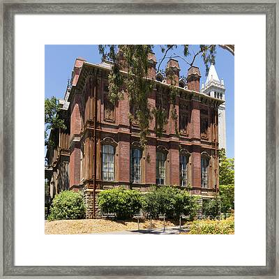 University Of California Berkeley Historic South Hall And The Campanile Dsc4058 Square Framed Print