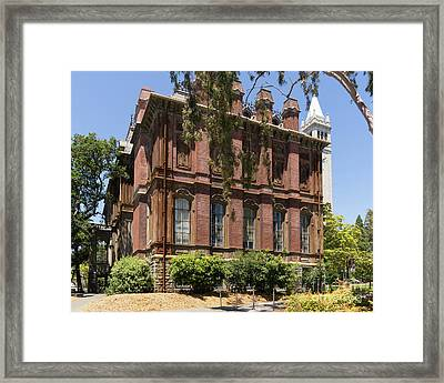University Of California Berkeley Historic South Hall And The Campanile Dsc4058 Framed Print