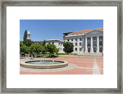 University Of California Berkeley Historic Sproul Hall At Sproul Plaza And The Campanile Dsc4086 Framed Print
