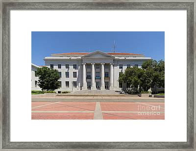 University Of California Berkeley Historic Sproul Hall At Sproul Plaza Dsc4082 Framed Print