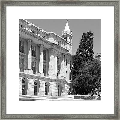 University Of California Berkeley Ide Wheeler Hall South Hall And The Campanile Dsc4066 Sq Bw Framed Print