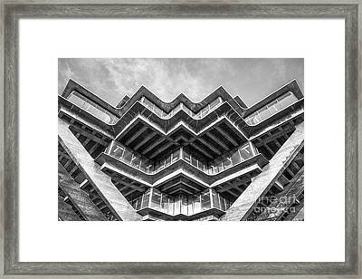 University Of California San Diego Geisel Library Abstract Framed Print