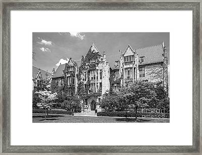 University Of Chicago Eckhart Hall Framed Print