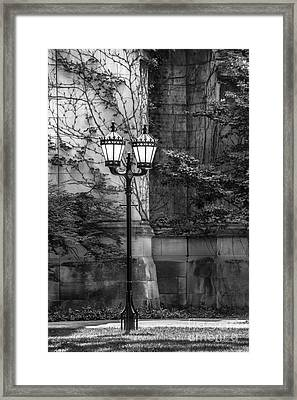 University Of Chicago Hall Garden Framed Print
