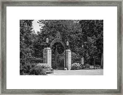 University Of Chicago Hull Court Gate Framed Print
