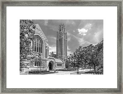 University Of Chicago Saieh Hall For Economics Framed Print by University Icons