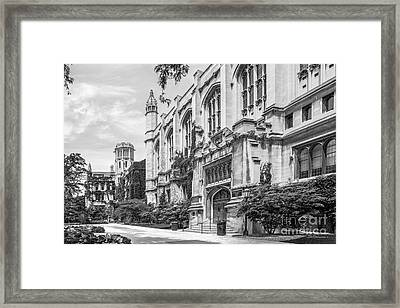 University Of Chicago Stuart Hall Framed Print