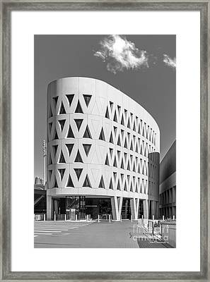 University Of Cincinnati Lindner Center Framed Print by University Icons