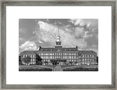 University Of Cincinnati Mc Micken Hall Framed Print by University Icons