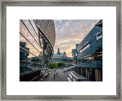 University Of Cincinnati On A September Evening Framed Print