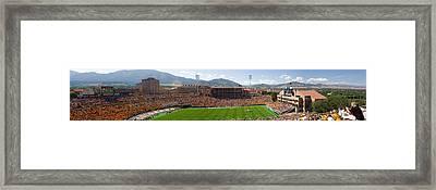 University Of Colorado Boulder Folsom Field Game Panorama Framed Print