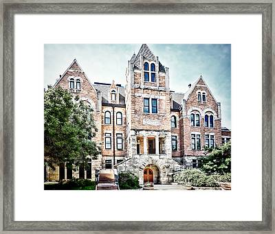 University Of Colorado  Hale Building - Photography Framed Print by Ann Powell