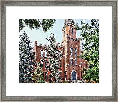 University Of Colorado Old Main In Summer - Photography Framed Print by Ann Powell