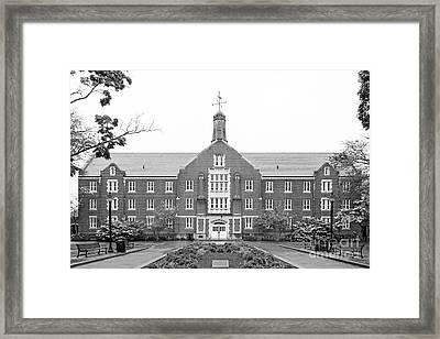 University Of Connecticut Whitney Hall Framed Print