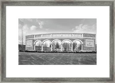University Of Dubuque In Black And White Framed Print by Art Spectrum
