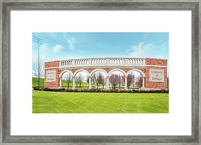 University Of Dubuque, Iowa Framed Print by Art Spectrum