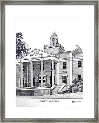 University Of Georgia Framed Print by Frederic Kohli
