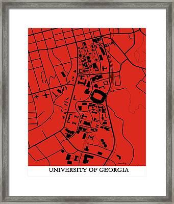 University Of Georgia  Framed Print by Spencer Hall