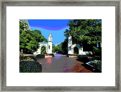 University Of Indiana Framed Print