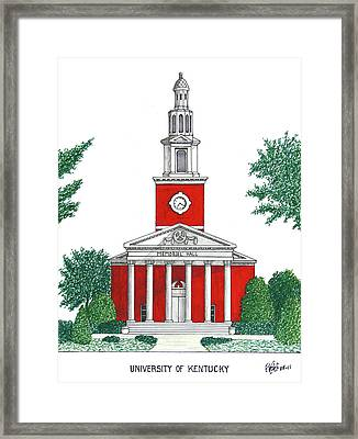 University Of Kentucky Framed Print by Frederic Kohli