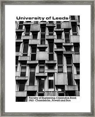 University Of Leeds - Engineering Framed Print