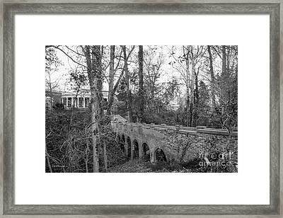 University Of Mary Washington Bridge Framed Print by University Icons