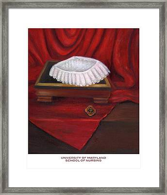 Framed Print featuring the painting University Of Maryland School Of Nursing by Marlyn Boyd