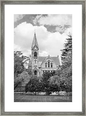 University Of Massachusetts Amherst Old Chapel Framed Print by University Icons