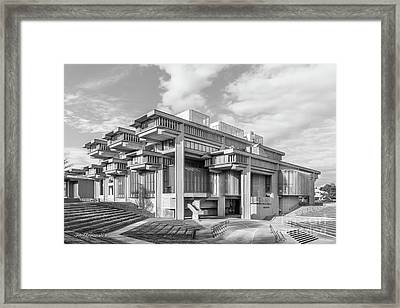 University Of Massachusetts Dartmouth Amphitheater Framed Print by University Icons