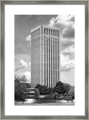 University Of Massachusetts W. E. B. Du Bois Library Framed Print by University Icons