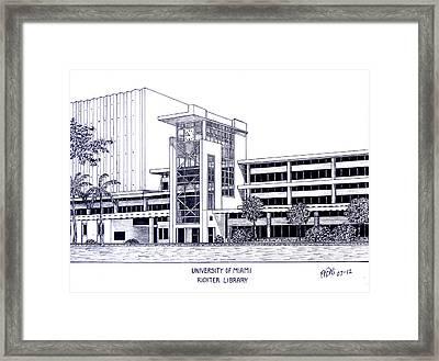 University Of Miami Framed Print by Frederic Kohli