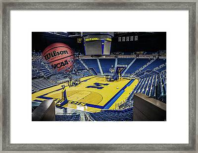 University Of Michigan Basketball Framed Print