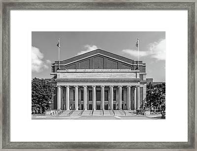 University Of Minnesota Northrop Auditorium Framed Print by University Icons