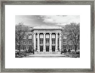University Of Minnesota Smith Hall Framed Print by University Icons