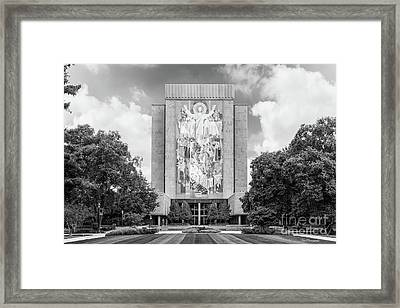 University Of Notre Dame Hesburgh Library Framed Print