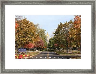 University Of Notre Dame Framed Print