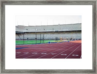 University Of Penn Franklin Field Track Framed Print by Bill Cannon