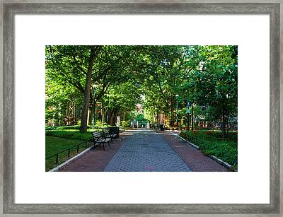 Framed Print featuring the photograph University Of Pennsylvania Campus - Philadelphia by Bill Cannon