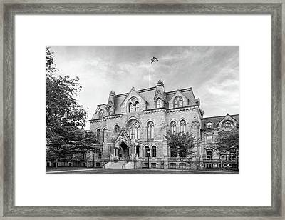 University Of Pennsylvania College Hall Framed Print by University Icons